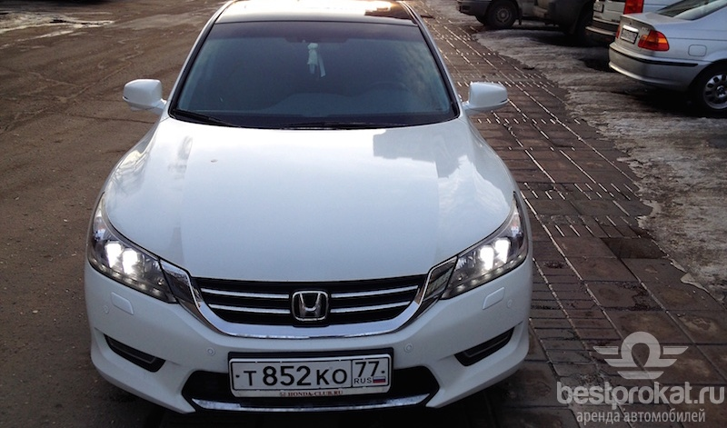 прокат Honda Accord без залога